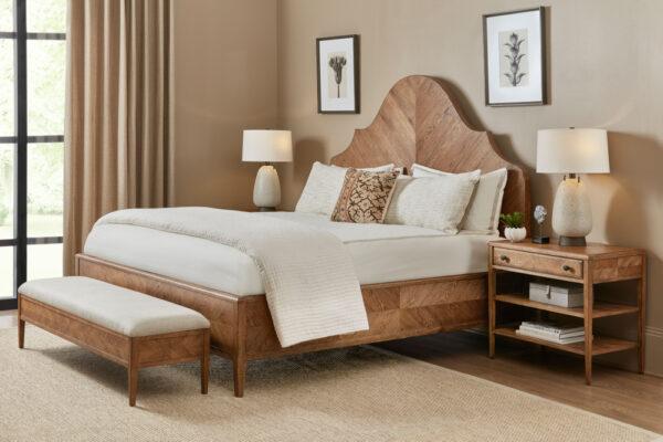 theodore alexander bedroom nova us king bed wooden rustic oak