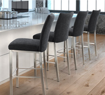 trica navy blue bar chairs