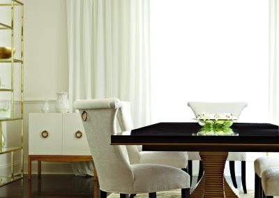 Bernhardt - Jet Set Double Pedestal Dining Table
