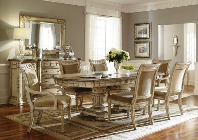 Double Pedestal Dining Table - Hickory Chair