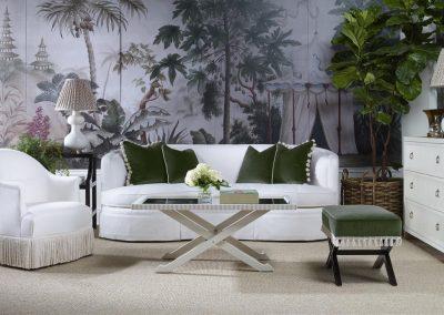 Highland House - Rafa Skirted Sofa