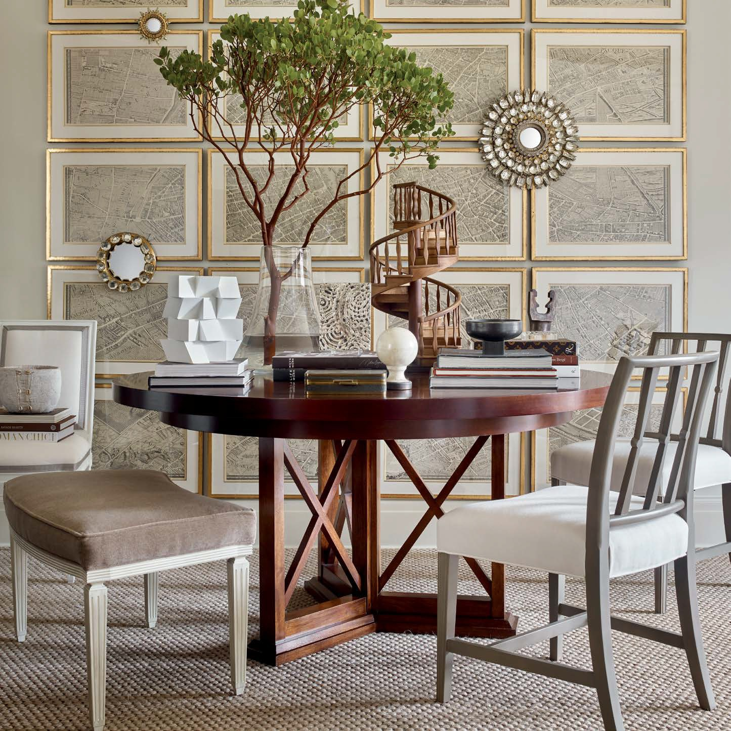 Hickory Chair   Suzanne Kalser Dining Room