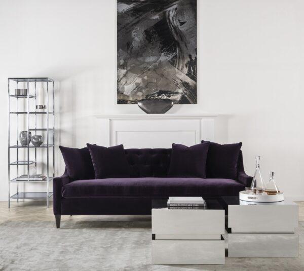 sonder living stuart sofa maroon minimalist modern living room