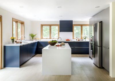 Navy Blue Modern Kitchen Wellesley Massachusetts