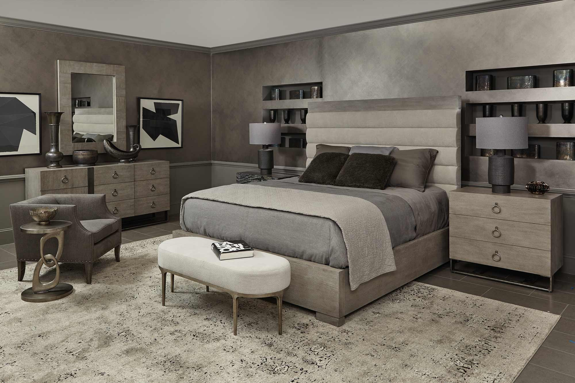 bed bernhardt linea channel bed and nightstand