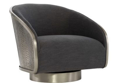 berhardt miles leather swivel chair