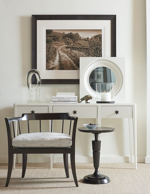 hickory chair alexis console chair