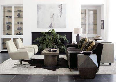 living bernhardt dangelo chair with linea