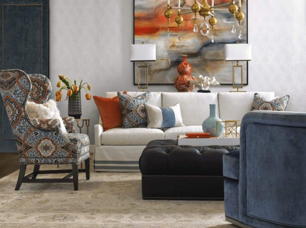 wesley hall heathcliff chair eclectic contemporary living room
