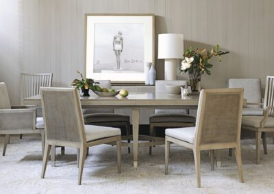 baker furniture barbara barry dining room chairs and table
