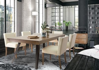 bertanie white dining table and chairs set